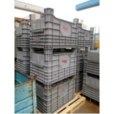CASSONI usati IN PLASTICA GRIGI DIM.100x60x66h