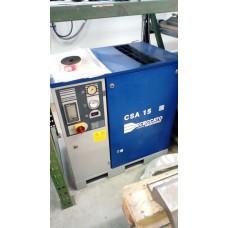 COMPRESSORE usato A VITE CECCATO CSA 15 HP 11 KW, 10 BAR, CON GRUPPO ASPIRAZIONE NUOVO (VITE NUOVA)