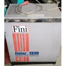 COMPRESSORE usato A VITE FINI 15 HP, 1O BAR, ORE 11000 REVISIONATO