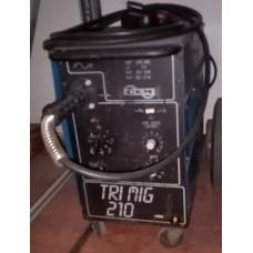 SALDATRICE A FILO usata A SCATTO da 200A, CEMONT TRI MIG 210, COMPLETA DI ACCESSORI