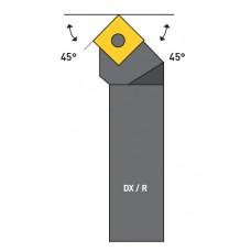 UTENSILE PER ESTERNO 45°LATO Dx/R, STELO 20X20,VITE T15/M4,5 INSERTO NON INCLUSO*